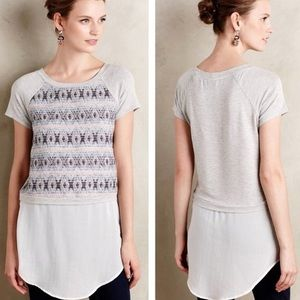 Anthropologie Dolan Skirted Baseball Tee Small